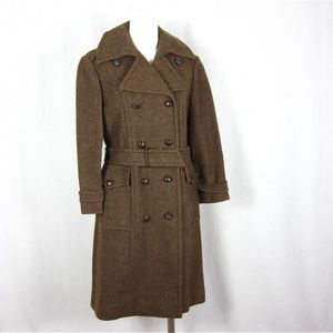 Vintage 1960's Military Olive Green Coat, Sz S